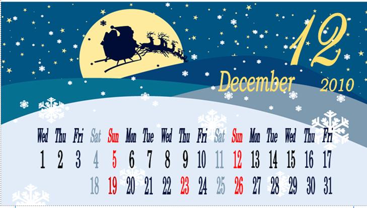 10 12のカレンダー モカのひとりごつ